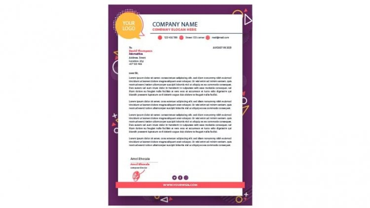 How to write a professional letterhead