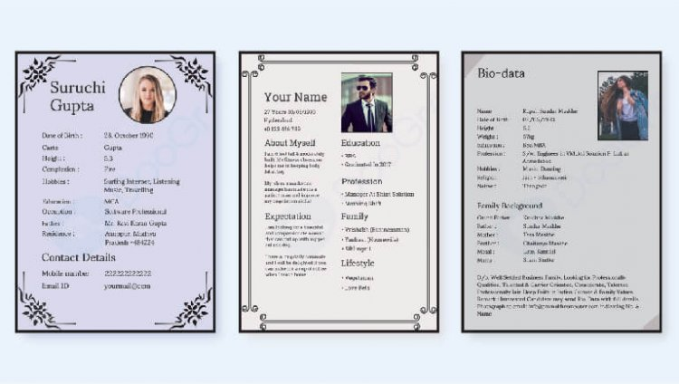 How to make biodata for marriage