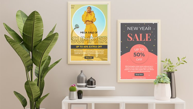 Design sales poster template freely