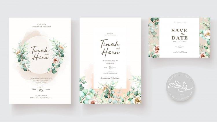 Design cute couple marriage  invitation card to impress people